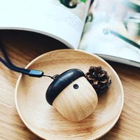 audio pattern - 2016 Hot Selling Small Size Mini Nut Shape Bluetooth Speaker with Hands free and Wood grain Pattern Playing Hrs by AVWOO Factory