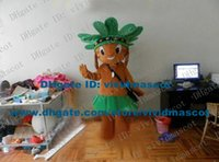 adult native american costume - Brave Brown American Indian Native Americans Mascot Costume Cartoon Character Mascotte Adult Green Dress Smiling Face ZZ1436 FS