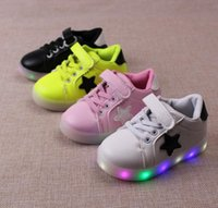 baby muscles - 2016 children Kids Led Lighted Shoes Boys Girls Luminous Athletic Shoes Children Casual Sneakers Baby Boy Girl Boots Child Flat Shoes