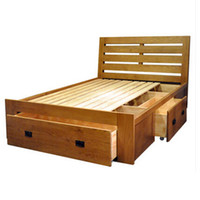 Wholesale HUAYI Full Solid Wood Furniture White Oak Bed Box Bed M M Double bed With Drawer Storage Bedroom Furniture