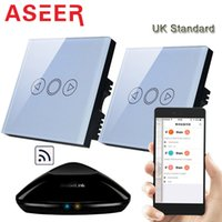 Wholesale Aseer Band UK Double Control led dimmer switches W intermediate Switch smart home Automation phone control lights by broadlink rm pro