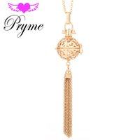 animal cages - Pryme Angel Caller Bola Vintage Tassels Cage Engelsrufer Harmony Pendant Angel Copper Mexican Ball Metal Sound Necklace DIY JewelryL014
