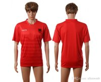 Wholesale Albania EURO CUP european national team soccer jersey shirt uniform kit home away kits jerseys man uniforms men shirts tailand quality