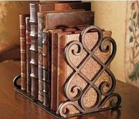 Wholesale American Vintage Style Iron Art Work Retro Bookend Baking Finishing Book Ends Home Organizers Optional colors