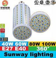 Wholesale E40 B22 E27 Led Corn Lights SMD High Power W W W W Led Light Bulbs Angle AC V ce ul