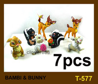 bambi movie - 7pcs set Movie BAMBI RABBIT BUNNY PVC Cartoon Action figures Toy Kids Cool Gift