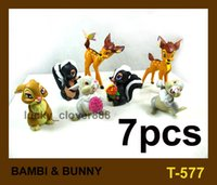 bambi movie - Collectible set Movie Bambi Thumper Flower BAMBI RABBIT BUNNY PVC Cartoon Action figures Model for Baby doll Toy Kids Gift