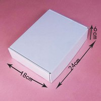 Wholesale CM white corrugated board box clothes gift packaging box