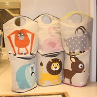 basket for toys kids storage - Large Folding Laundry Storage Basket Hampers for Dirty Clothes Cartoon Kids Toy Storage Pouch Bucket Bins Organizer Tote Bag