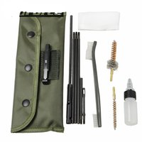 Wholesale New Arrival Piece LR Rifle Gun Cleaning Kit Set Cleaning Rod Nylon Brush Cleaner Gun Accessories Clean Tools