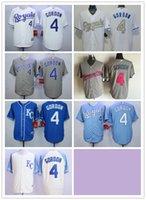 alex white baseball - 2016 Majestic Official Cool Base MLB Stitched KC Kansas City Royals Alex Gordon White BLue Gray Gold Jerseys Mix Order