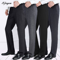 Wholesale autumn winter men s business casual pants homme trousers thick straight mens dress Pants loose suit pants plus size