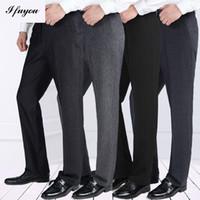 Wholesale autumn winter men s business casual pants homme trousers thick straight mens dress Pants loose suit pants plus size