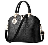 Wholesale Women Famous brand designer Luxury leather handbags women messenger bag Ladies crocodile pattern Shoulder bag Crossbody