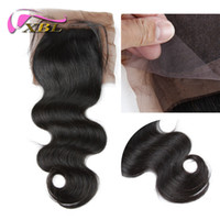 Wholesale Virgin Brazilian Body Wave Free Part Silk Top Closure Top Quality Remy Human Hair Silk Base Closure XBL Hair Products