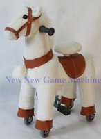amusement rides for sale - 2016 New Amusement Park Equipment Plush Animal Toy Mechanical Horse Kids Rides For Sale
