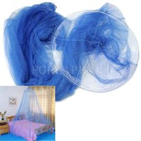 Wholesale Elegant Blue Dome Mosquito Net Fly Insect Midges Protection Bed Canopy Netting