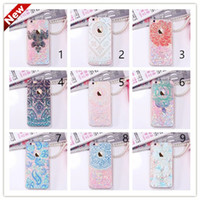 abs dynamic - 2016 Floating glitter Heart Running Quicksand Liquid Dynamic Hard Case clear transparent shining Cover For iPhone4 s s iphone plus