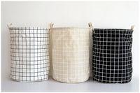 bathroom clothes hampers - Folding Cheap Laundry Basket Hamper for Dirty Cloth Bathroom Dirty Cloth Basket Fashion Cotton Linen Fabric Household eco bag