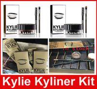 Wholesale Kylie Cosmetics brithday edition kylie kyliner eyeliner and gel Gel pot Brush liner colors black brown dark bronze