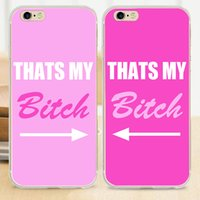beaches background - Pink Background Beach BFF Best Friends Soft Pair Case for iPhone S S SE C Plus Cover