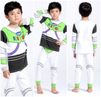 Wholesale Cartoon Toy Story Baby Kids Boys Buzz light year Nightwear Sleepwear Pajamas set set hangers