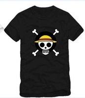 Wholesale fashion short sleeve tee Anime t shirt one piece luffy tshirt cartoon T shirt color cotton ZH_Tee_0052