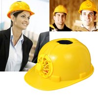 Wholesale Solar Safety Helmet Hard Hat Cap with Cooling Cool Fan