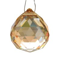 Wholesale Champagne Wedding Home Decoration mm Lighting Ball Crystal Chandelier Prisms Parts