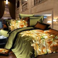 Wholesale Hot Sale Flower Animal D Bedding Set of Duvet Cover Bed Sheet Pillowcase Bed Clothes Home Textile Bedding Sets Size JA0137 smileseller