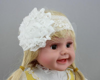 big pretty flowers - NEW Baby Girls Kids Sweet Cute Lace big flower princess Hair Bands Vintage Hair Accessories Pretty Headbands Infant Headbands CC288