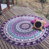 bath walls - Retro fashion Hippie Round Mandala Tapestry Indian Wall Hanging Beach Throw Towel Yoga Mat
