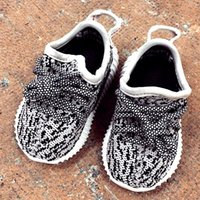 baby girl cushions - Wholsale Boost Kids Baby Sports Shoes Boy Girl Sneakers Baby Infant Boost Cushioning Kanye West Running Shoes