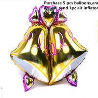 balloons inflated - Foil Balloons Party Decoration x81cm Aluminium Film Cartoon Bell Ball Inflate Foil Balloon Toy Gift Bell Ball Christmas Party Supplies