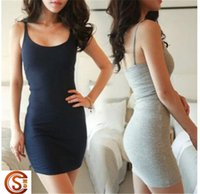 Wholesale Hot Sales Woman Sundress Tanks and Camis Women Tight Skirts Jumper Tank Top Skirts Sleeveless casual Slim Dress D