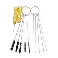 airbrush cleaning kits - Airbrush Spray Gun Nozzle Cleaning Repair Tool Kit Needle amp Brush Set New