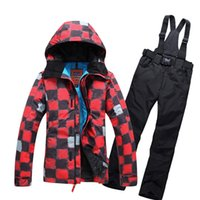 Wholesale waterproof jacket womens ski suit snowboard jackets mountain ski set thermal windproof women skiing clothing set