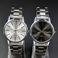 Wholesale Fashion C Brand women men Unisex silver Steel Metal Band quartz K wrist watch C03