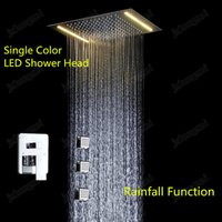 Wholesale Luxury shower kit stainless steel embeded ceiling rainfall shower with chrome dual functions diverter and body jets