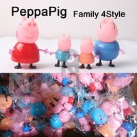 peppa pig - Zorn Peppa Pink Pig cartoon Plastic doll Decoration style play house toy Page Pig toys for the children Christmas Gifts opp bag
