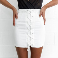 Wholesale Newest bandage Skirt Classic Sexy short length skirt women casual skirt HL1344