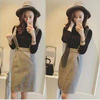 Wholesale Autumn Winter New Women long sleeve knit pullover Tops Skirt Set Big Girl Casual thermal Set Two Piece Skirt Set Set X110308