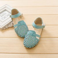 beach girls with out dress - Bohemia Sandals for Girls Cut Outs Princess Shoes Flat With Beach Sandals Kids Summer Shoes Leather Girls Dress Shoes EU