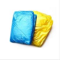 Wholesale Free DHL Fashion Hot Disposable PE Raincoats Poncho Rainwear Travel Rain Coat Rain Wear gifts mixed colors
