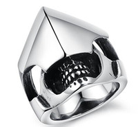 armour ring - 316L Stainless Steel Casting Helmet and Armour Mask Design Ring SZ