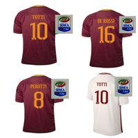 Wholesale AAA Thailand quality Rome Jerseys Shirt PJANIC DZEKO TOTTI DE ROSSI home away Associazione Sportiva Roma M SALAH Jersey Wholes