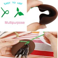 bean bag s - Novelty Silicone Coffee Bean Shape Keyring Key Bag Purse Pouch Holder Xmas Gifts