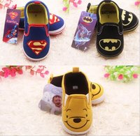 baby s boots - Cheap Baby First Walker Shoes Non Slip skidproof Superman Batman Pooh Newborn Infant toddler Boots Children s Shoes Soft Bottom babys s