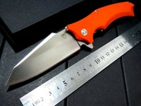 ball used - Snake head Orange G10 folding knife Imitate knife Use cr steel Hardness HRC ball bearing knives New hot sell