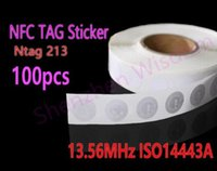 Wholesale NTAG213 NFC Tags MHz ISO A All NFC Phone Available NFC Tag Sticker Adhesive Labels